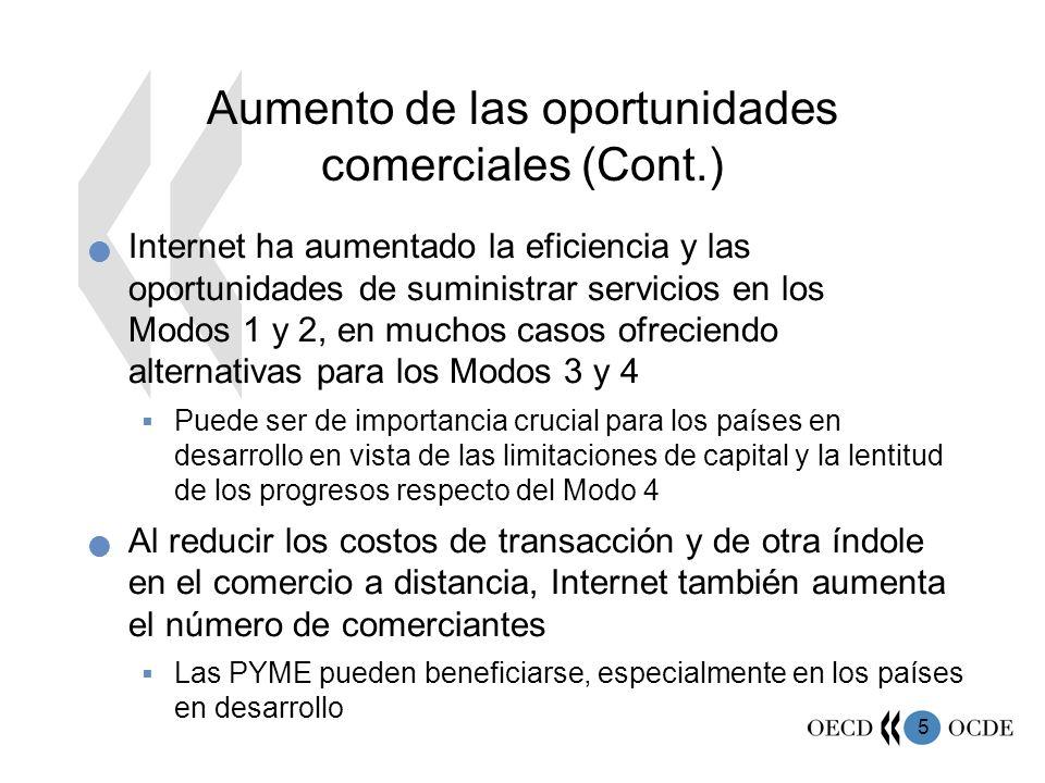 Aumento de las oportunidades comerciales (Cont.)