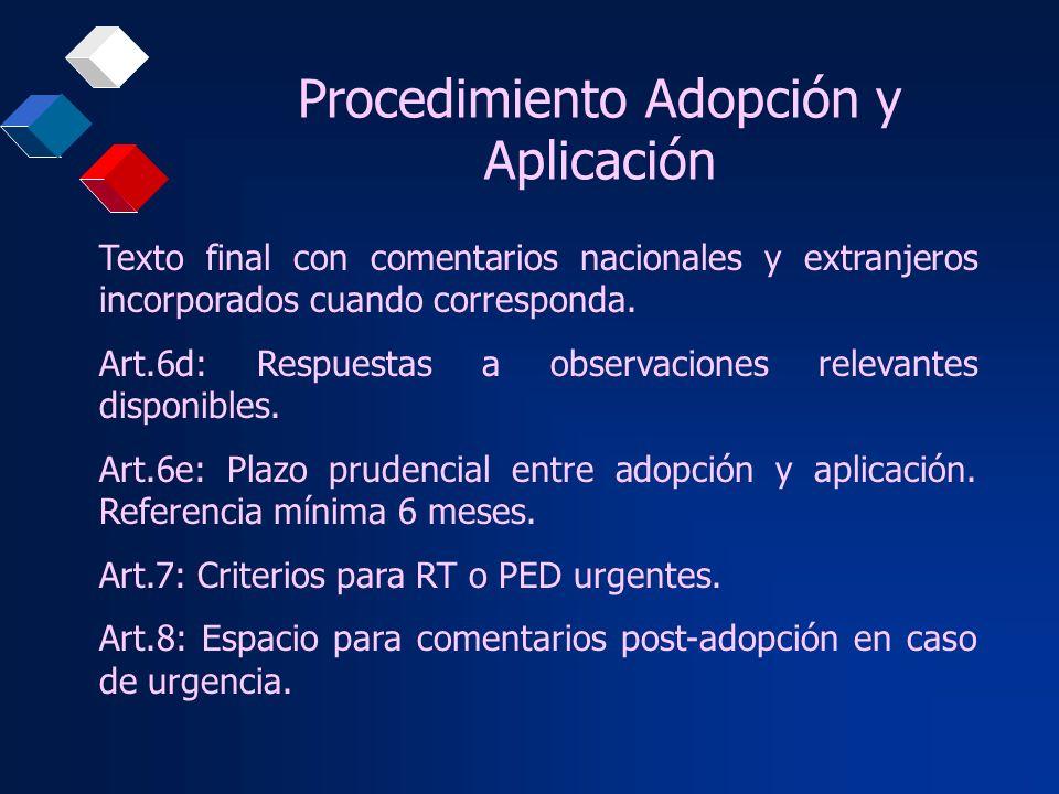 Procedimiento Adopción y Aplicación