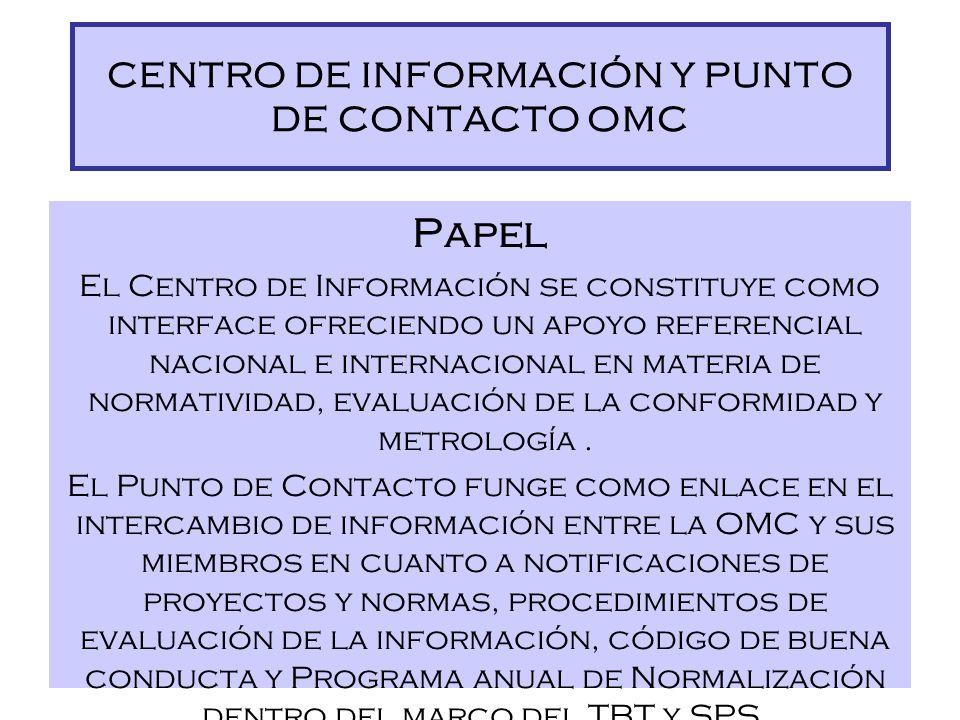 CENTRO DE INFORMACIÓN Y PUNTO DE CONTACTO OMC