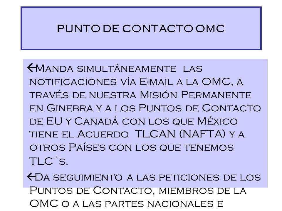 PUNTO DE CONTACTO OMC