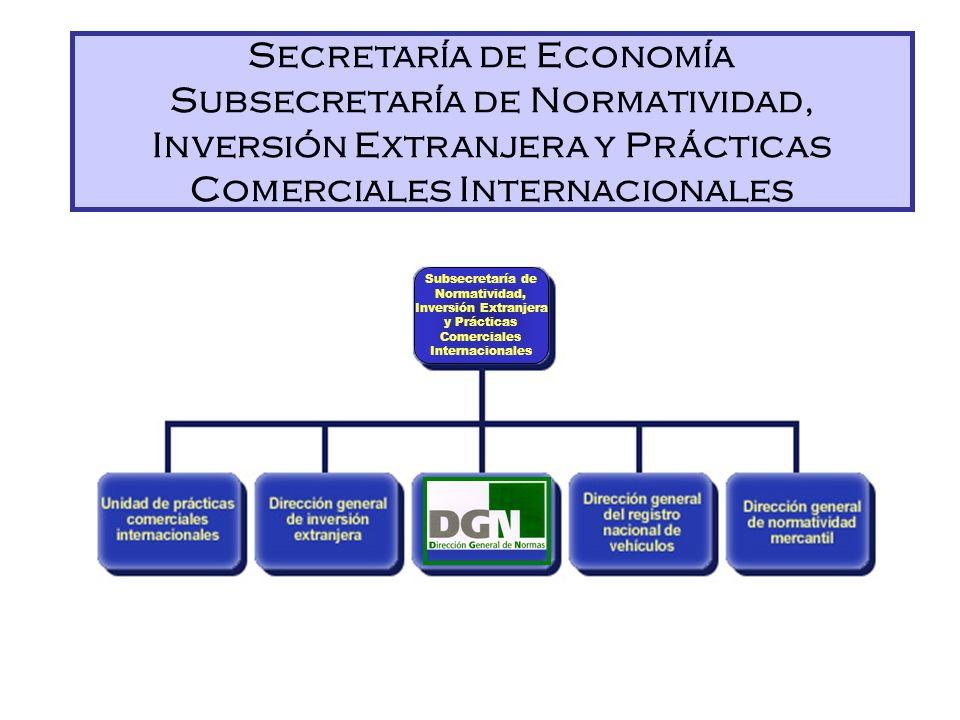 Secretaría de Economía Subsecretaría de Normatividad, Inversión Extranjera y Prácticas Comerciales Internacionales