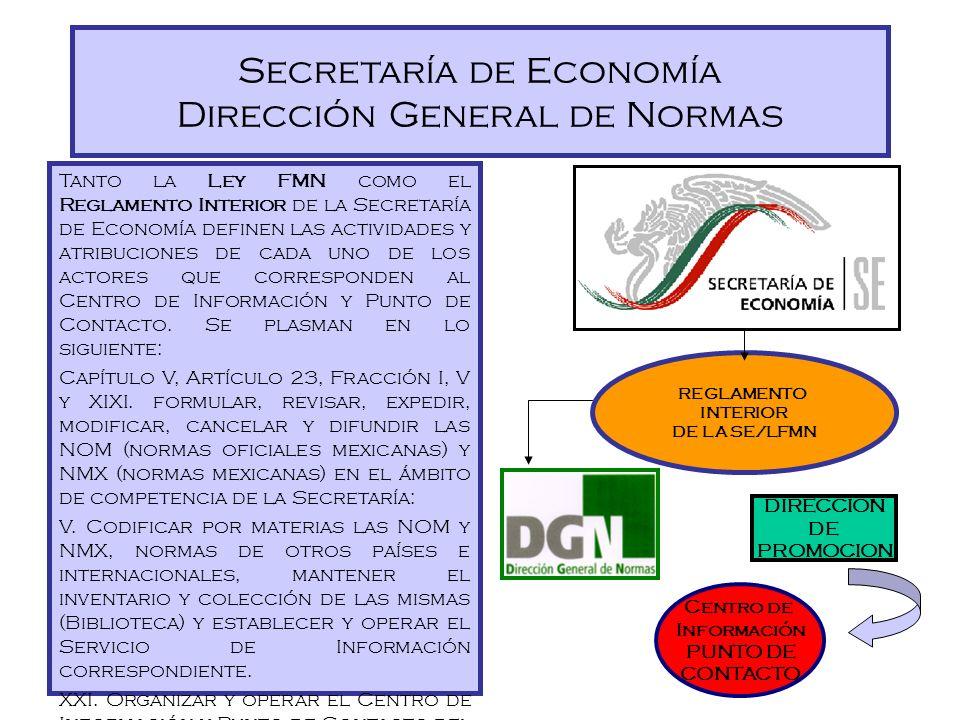 Secretaría de Economía Dirección General de Normas