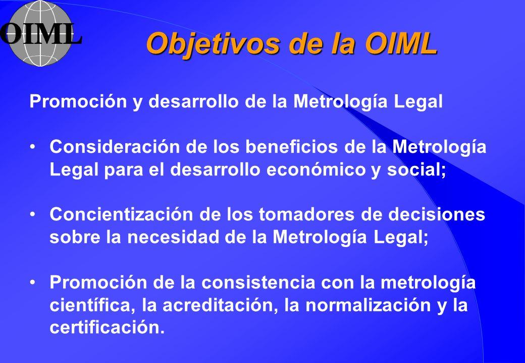Objetivos de la OIML Promoción y desarrollo de la Metrología Legal
