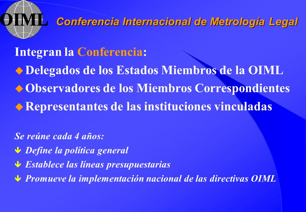 Conferencia Internacional de Metrología Legal