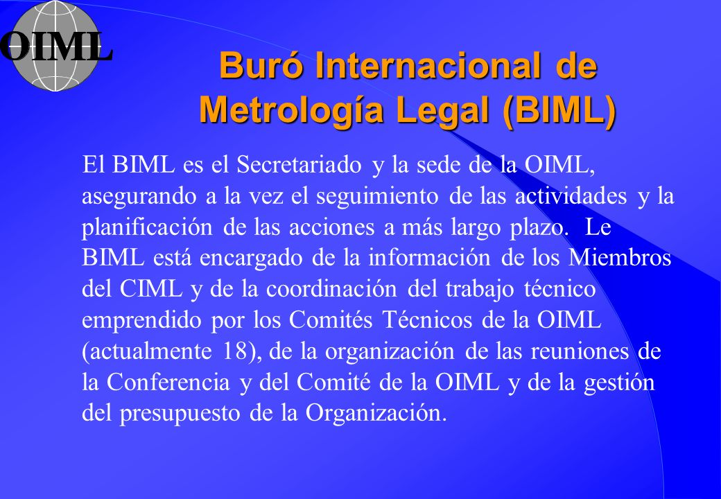 Buró Internacional de Metrología Legal (BIML)