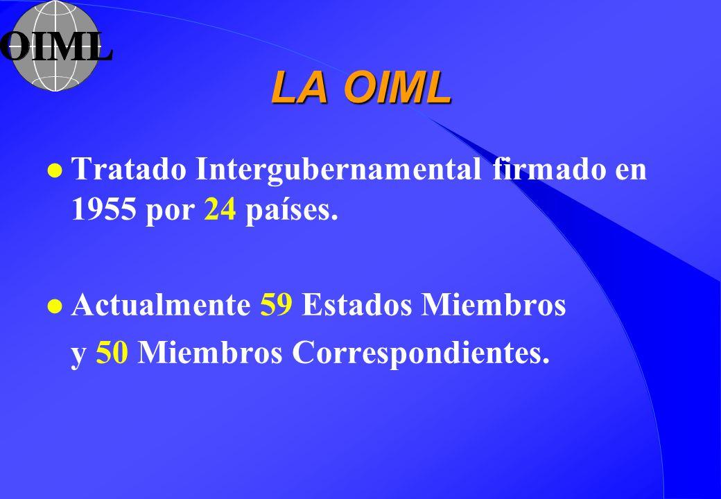 LA OIML Tratado Intergubernamental firmado en 1955 por 24 países.