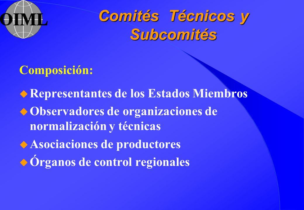 Comités Técnicos y Subcomités