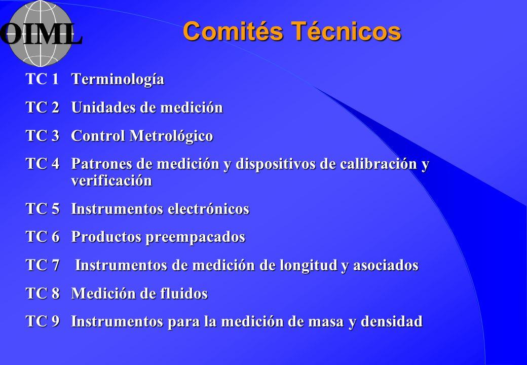 Comités Técnicos TC 1 Terminología TC 2 Unidades de medición