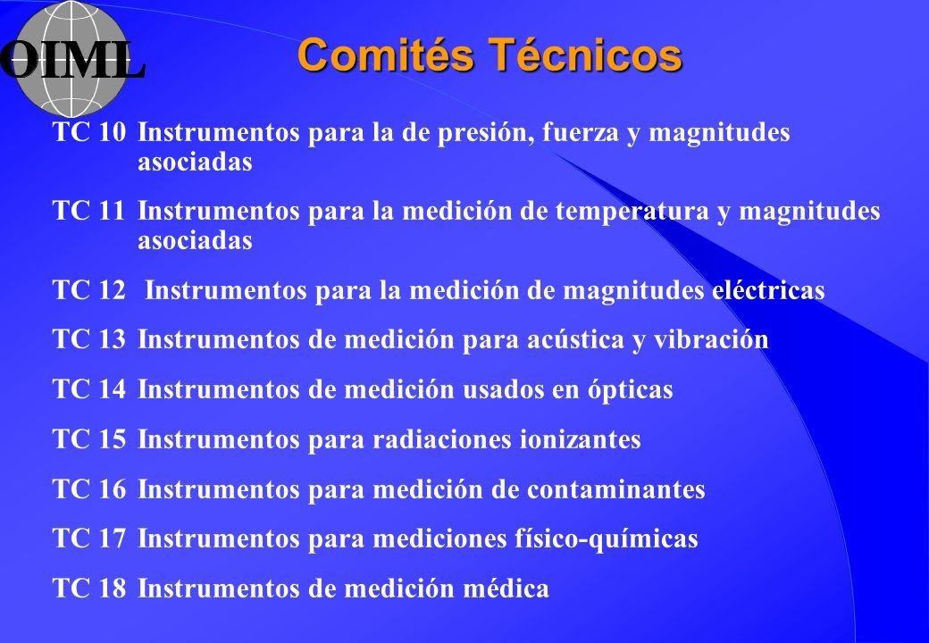 Comités Técnicos TC 10 Instrumentos para la de presión, fuerza y magnitudes asociadas.