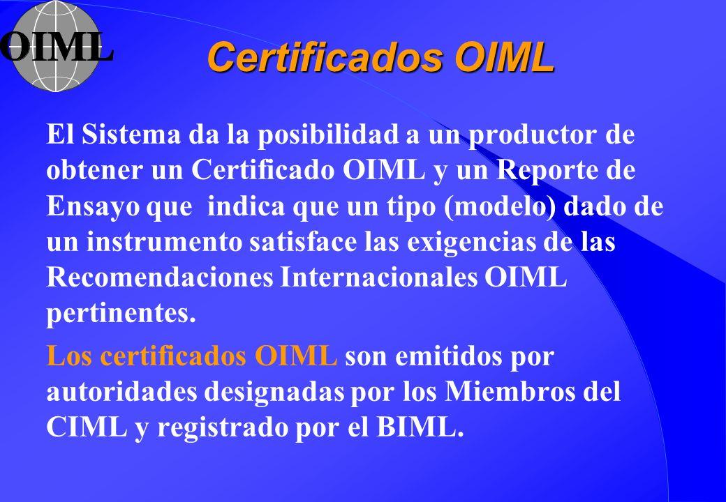 Certificados OIML