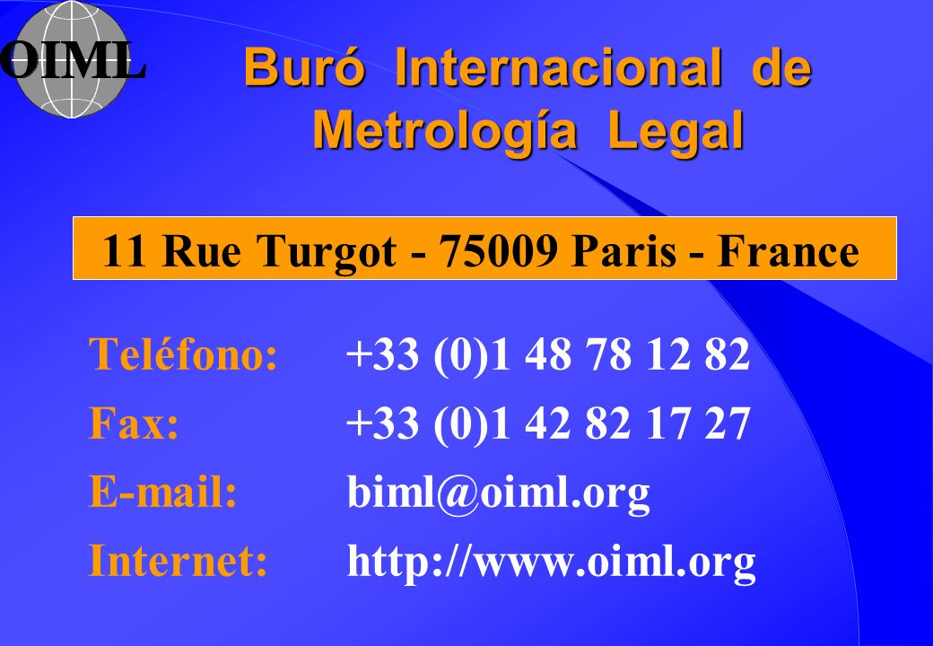 Buró Internacional de Metrología Legal