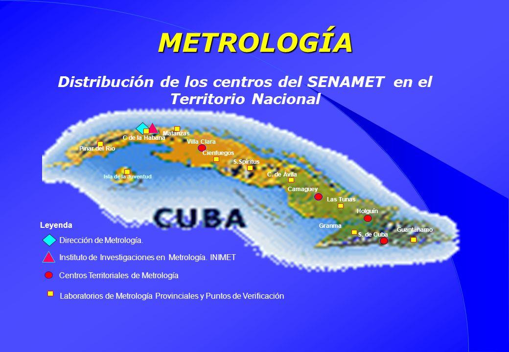 Distribución de los centros del SENAMET en el Territorio Nacional