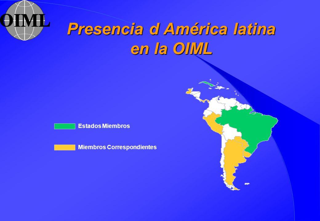 Presencia d América latina en la OIML
