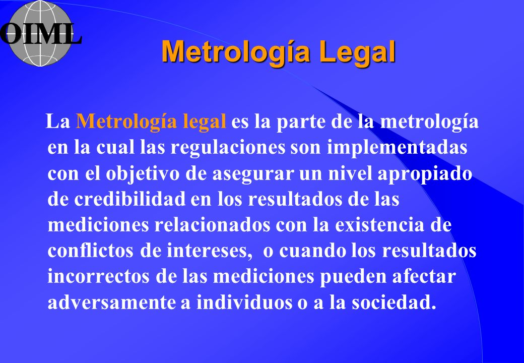 Metrología Legal