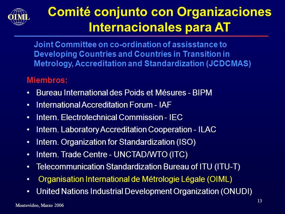 Comité conjunto con Organizaciones Internacionales para AT