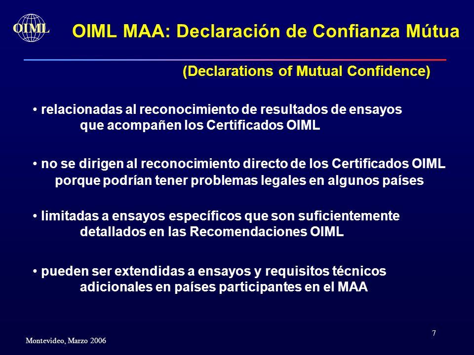 OIML MAA: Declaración de Confianza Mútua