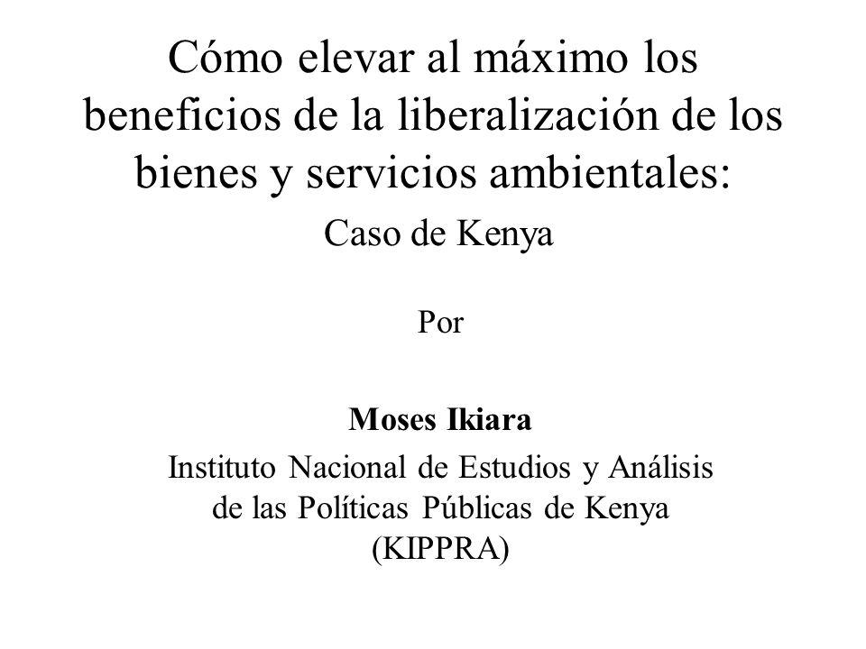 Cómo elevar al máximo los beneficios de la liberalización de los bienes y servicios ambientales: Caso de Kenya