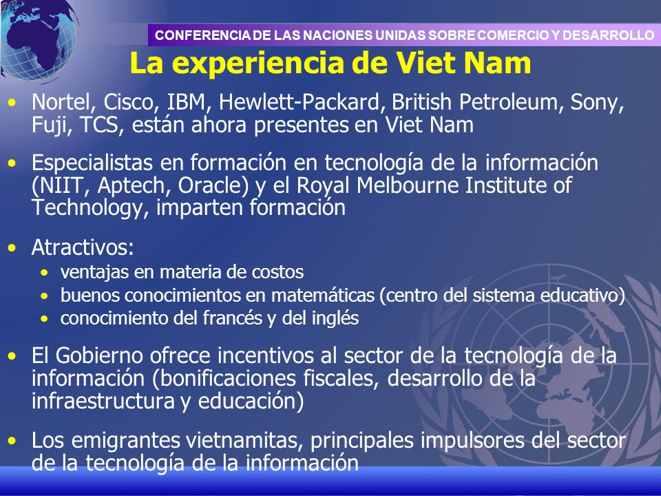 La experiencia de Viet Nam