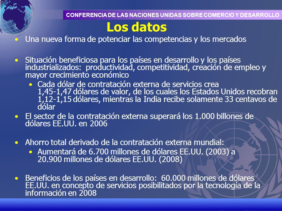 Los datos Una nueva forma de potenciar las competencias y los mercados