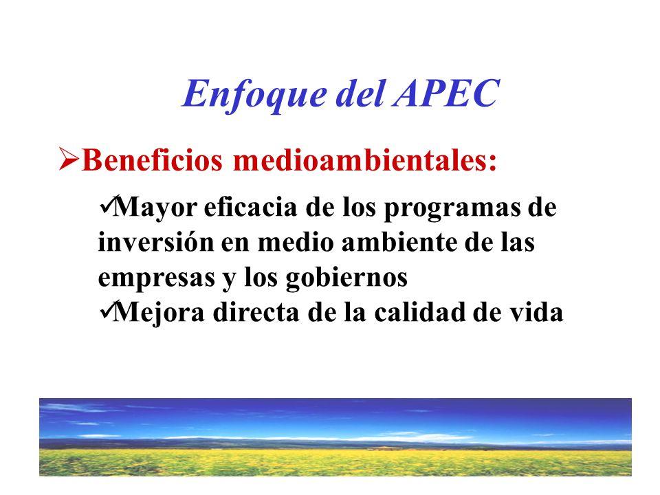 Enfoque del APEC Beneficios medioambientales: