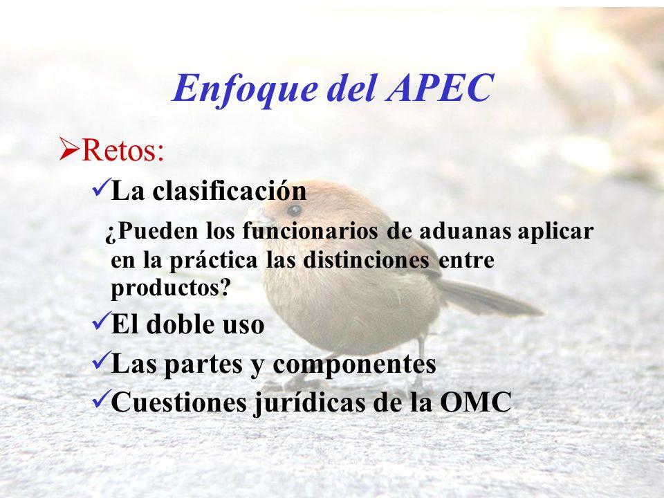 Enfoque del APEC Retos: La clasificación