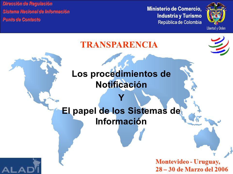 Los procedimientos de Notificación Y