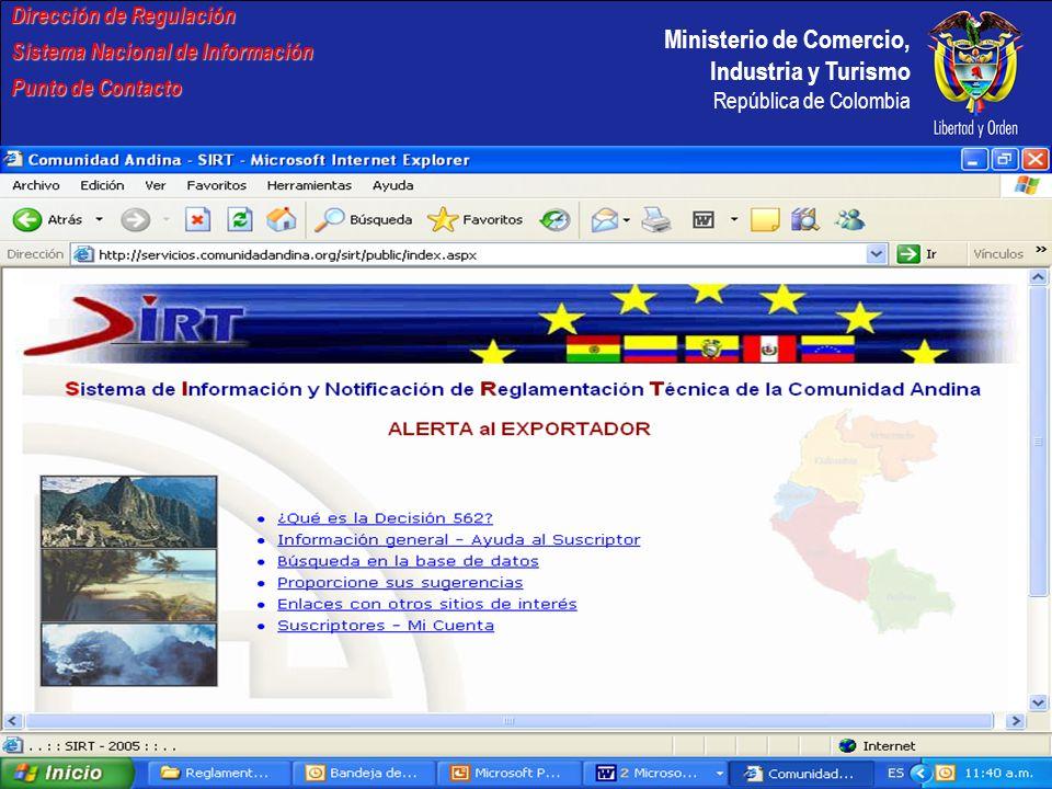 Dirección de Regulación Sistema Nacional de Información