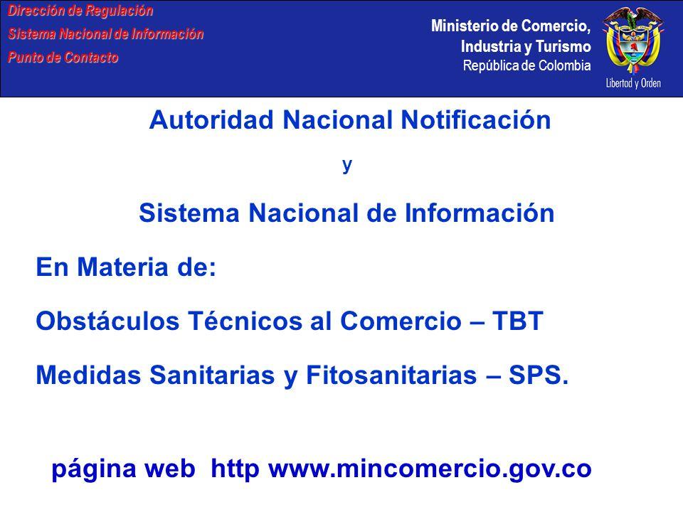 Autoridad Nacional Notificación Sistema Nacional de Información