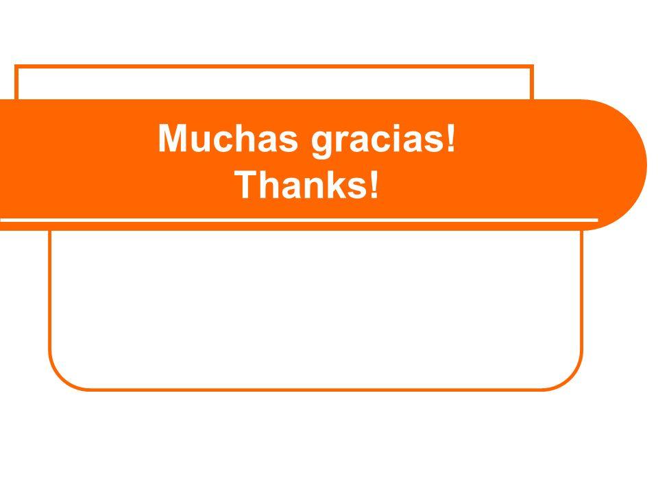 Muchas gracias! Thanks!