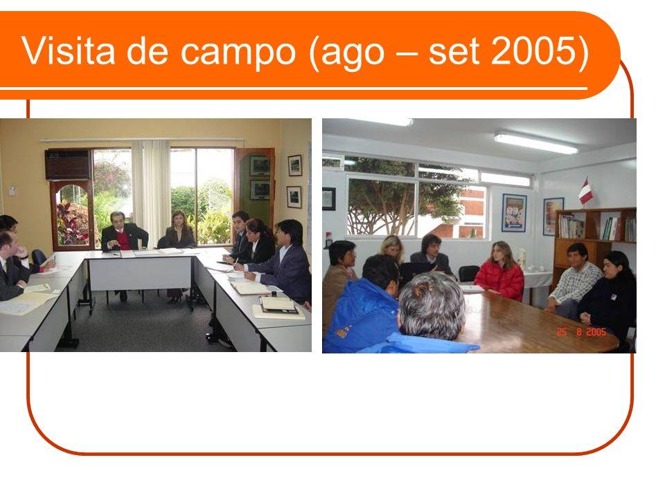 Visita de campo (ago – set 2005)