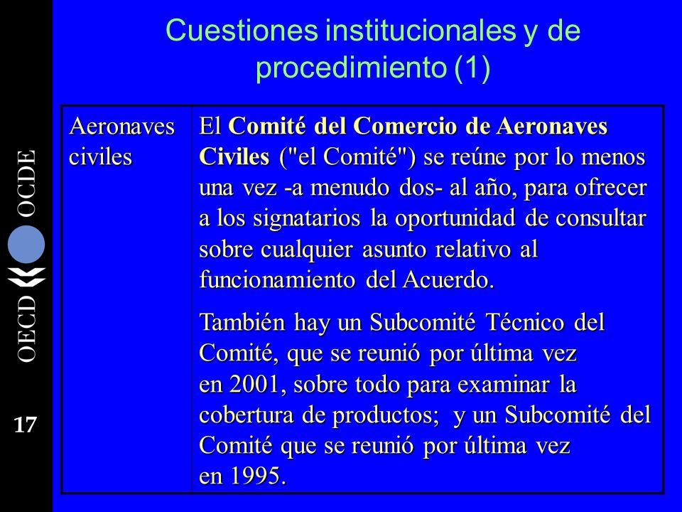 Cuestiones institucionales y de procedimiento (1)
