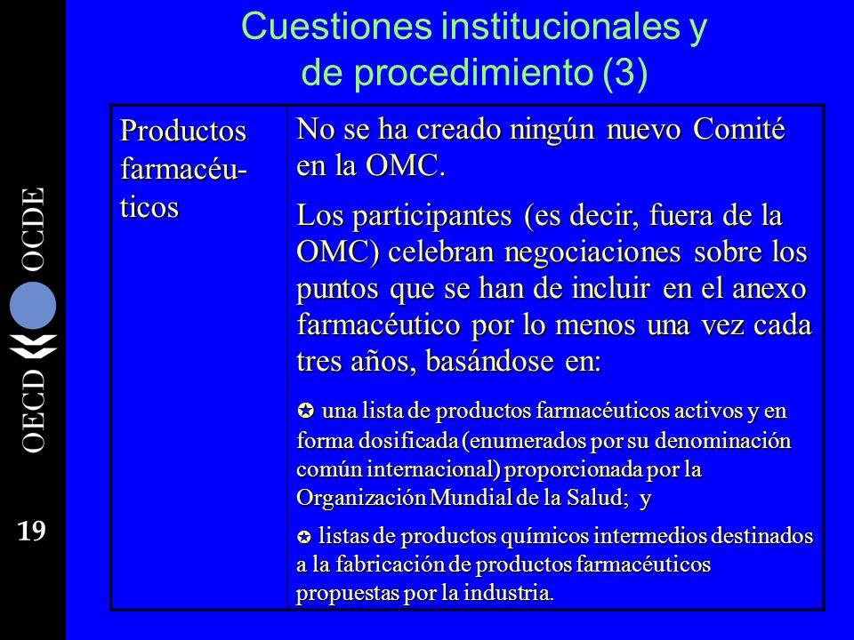 Cuestiones institucionales y de procedimiento (3)