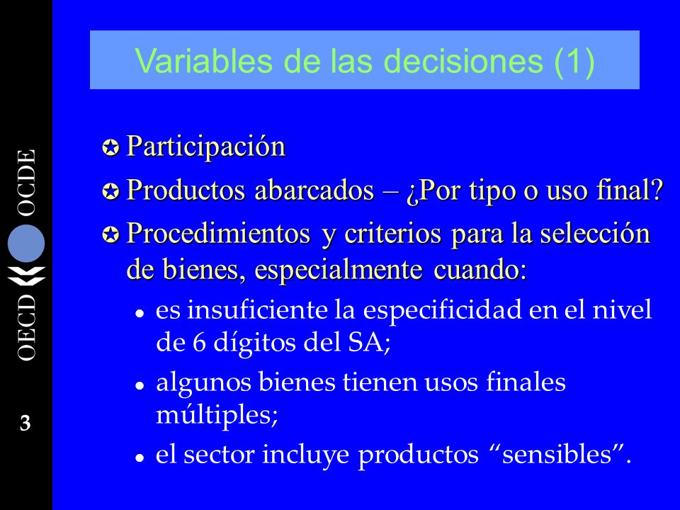 Variables de las decisiones (1)