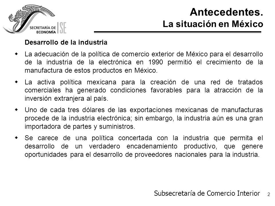 Antecedentes. La situación en México