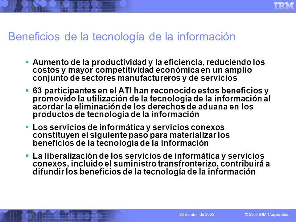 Beneficios de la tecnología de la información