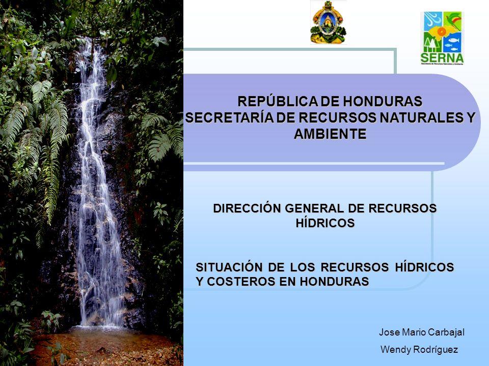 REPÚBLICA DE HONDURAS SECRETARÍA DE RECURSOS NATURALES Y AMBIENTE