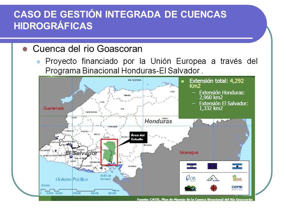 CASO DE GESTIÓN INTEGRADA DE CUENCAS HIDROGRÁFICAS