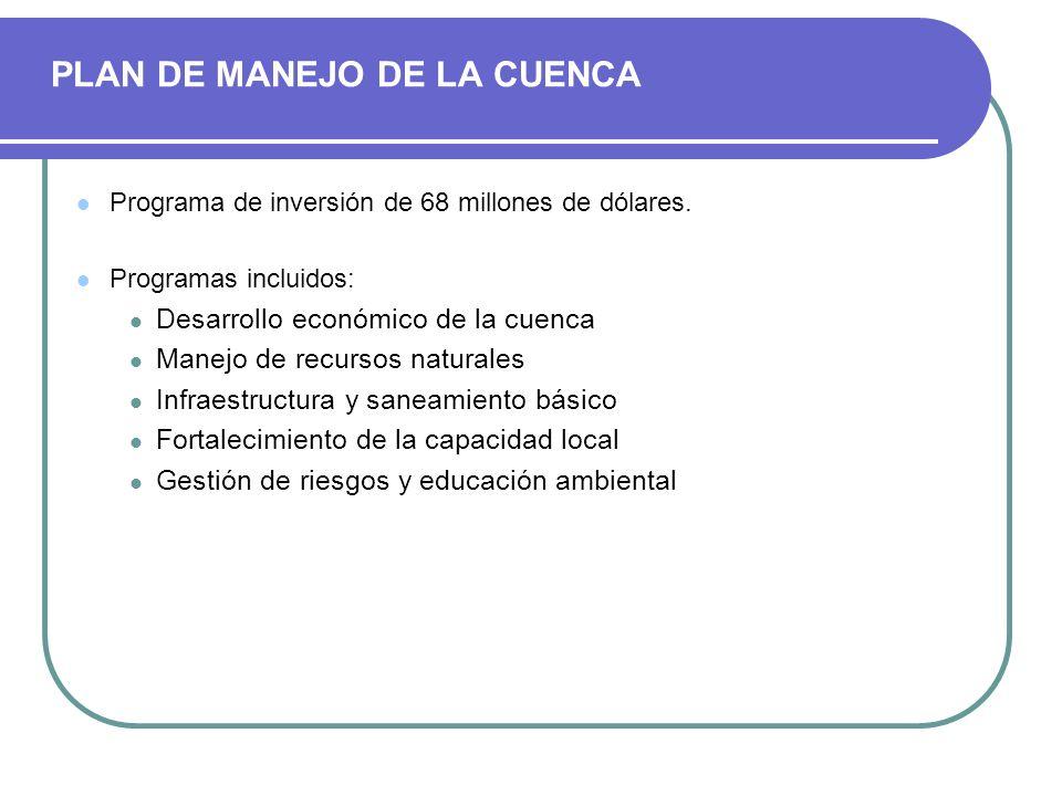 PLAN DE MANEJO DE LA CUENCA