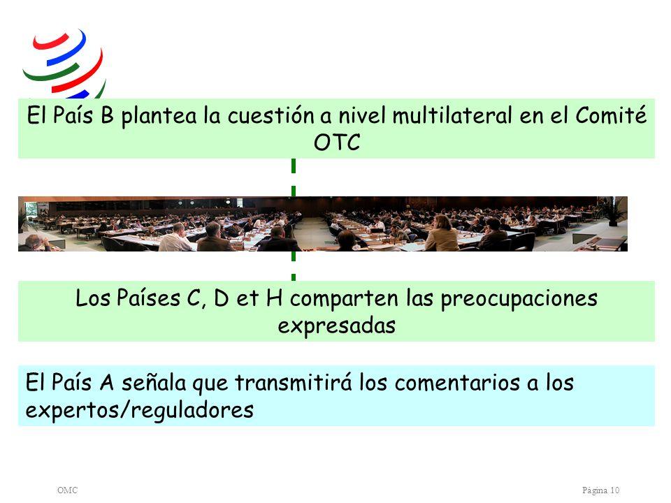 El País B plantea la cuestión a nivel multilateral en el Comité OTC