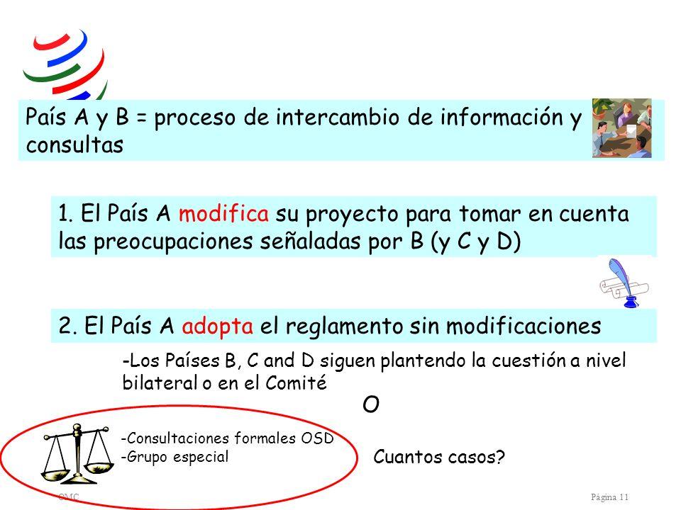 País A y B = proceso de intercambio de información y consultas
