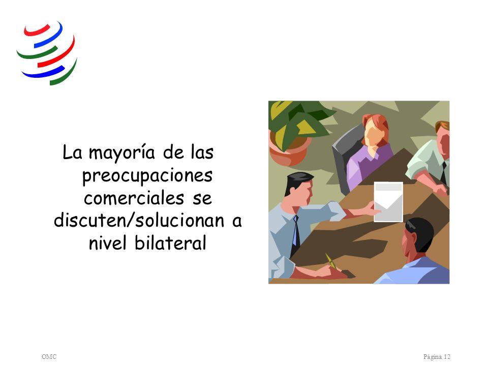 La mayoría de las preocupaciones comerciales se discuten/solucionan a nivel bilateral