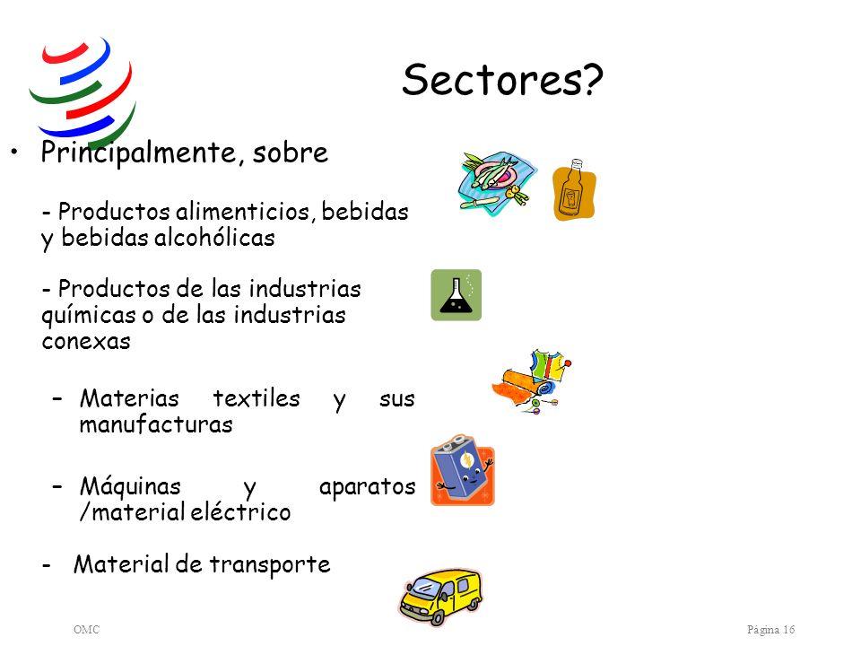 Sectores Principalmente, sobre