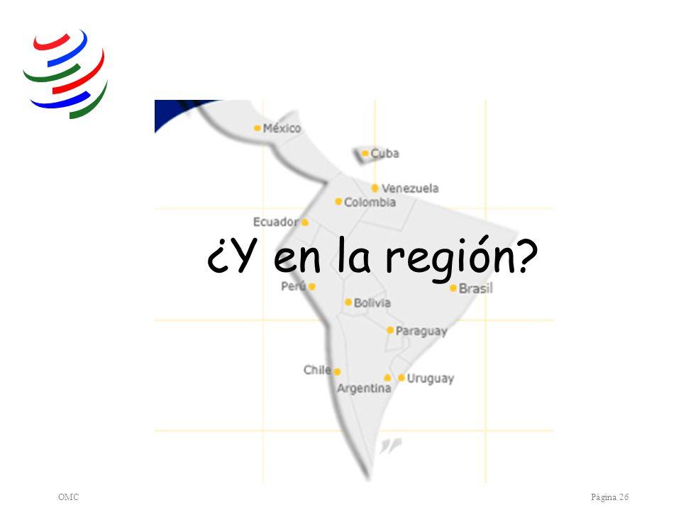 ¿Y en la región OMC Página 26
