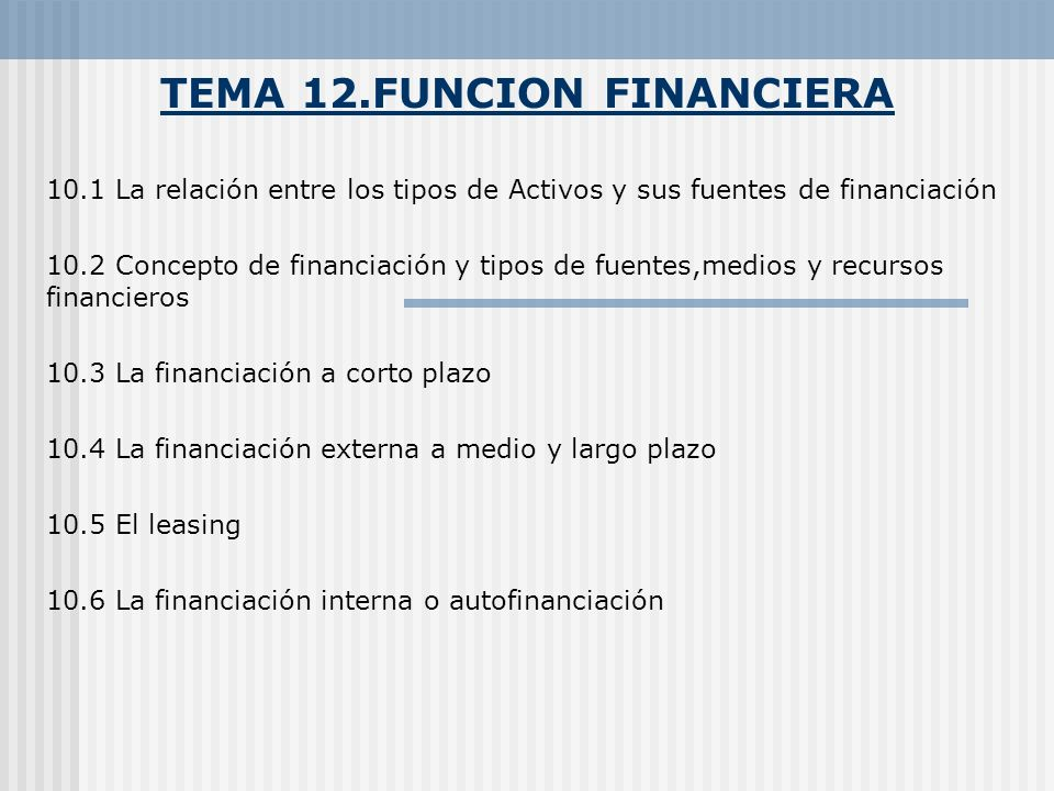 TEMA 12.FUNCION FINANCIERA