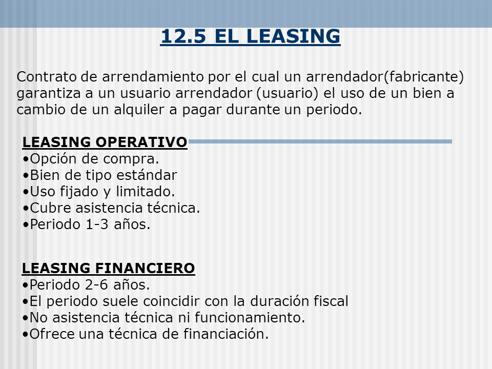 12.5 EL LEASING