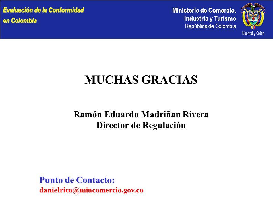 Ramón Eduardo Madriñan Rivera Director de Regulación