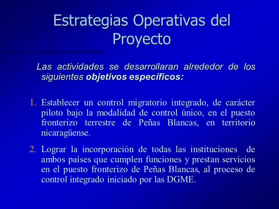 Estrategias Operativas del Proyecto