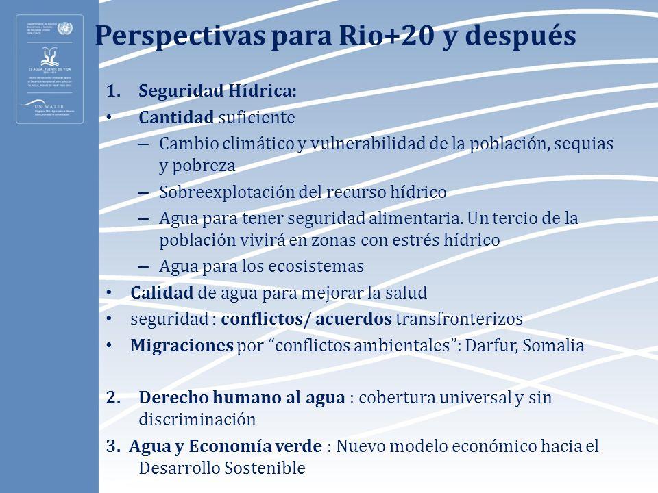Perspectivas para Rio+20 y después