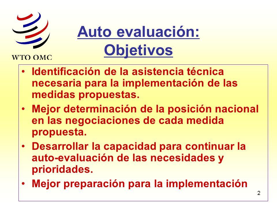 Auto evaluación: Objetivos