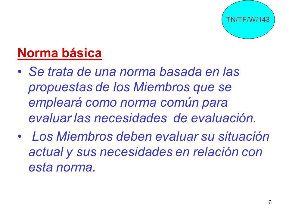 TN/TF/W/143 Norma básica.
